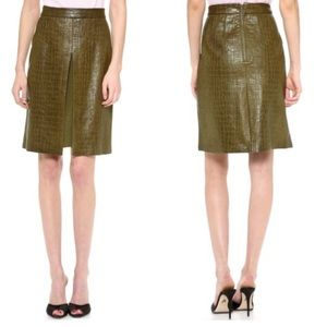 Jenni Kayne Leather Front Slit Skirt